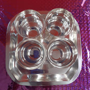 onesilver.in kumkum bharani S P Glass set 4pcs