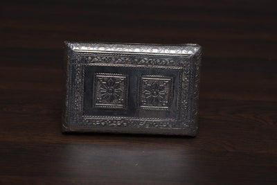 onesilver.in wooden chowki Peeta white Metal 6 x 4""