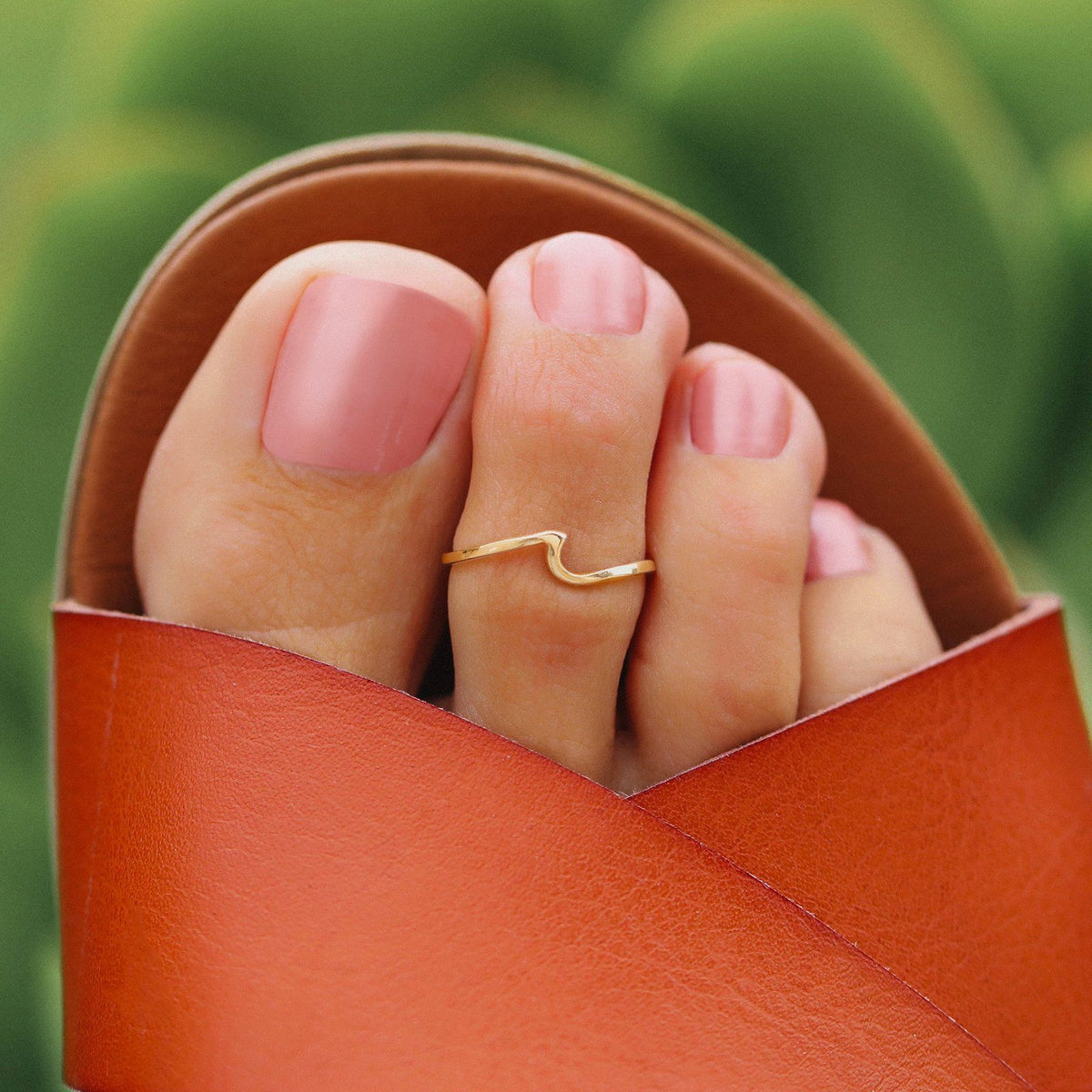 Wave Toe Ring 5