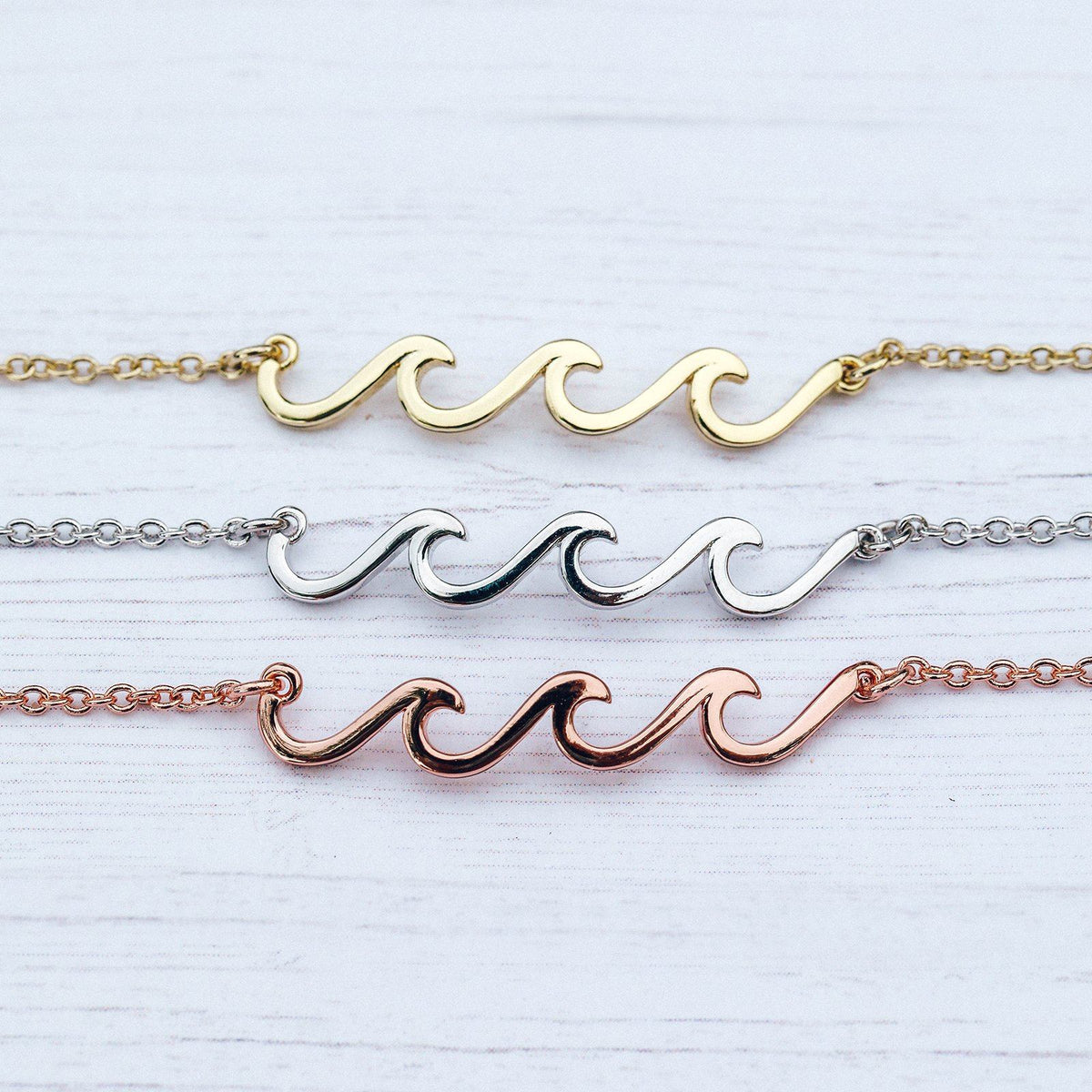 Delicate Wave Anklet Photo 7