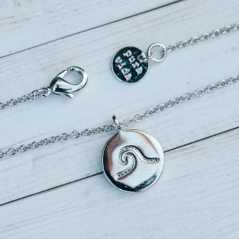 Wave Coin Necklace 7