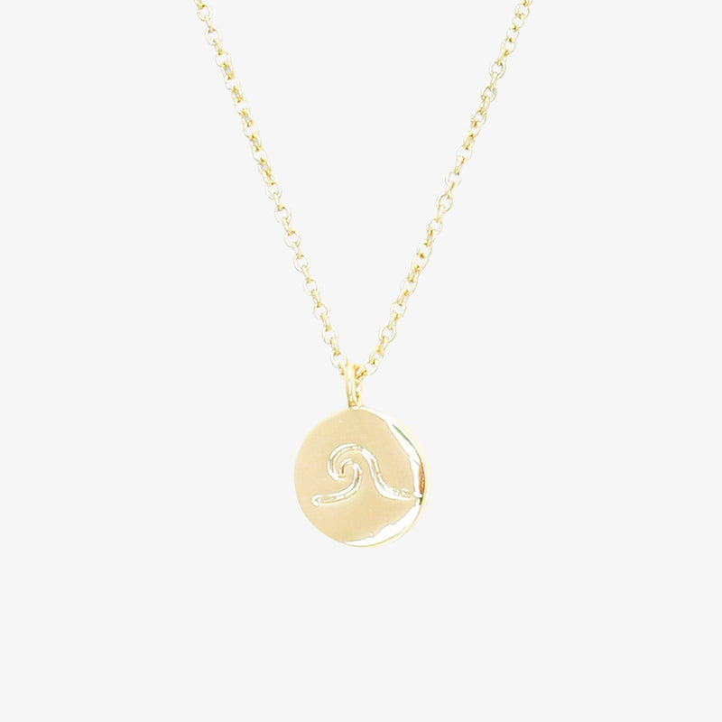 Wave Coin Necklace 2