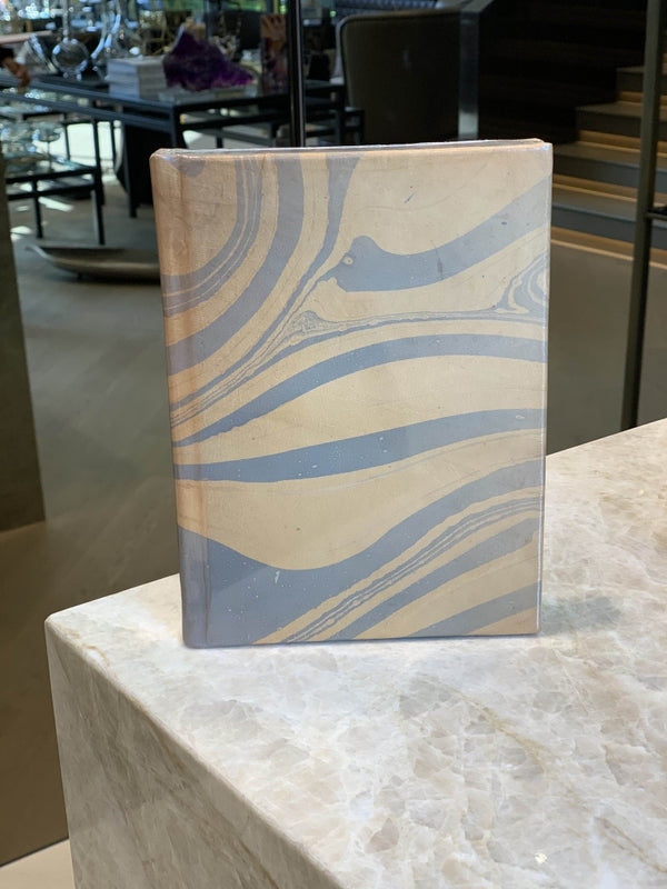 Marbleized Leather Journal - Blue