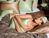Charmeuse Case Silk Pillow Slip  (Toffee King)