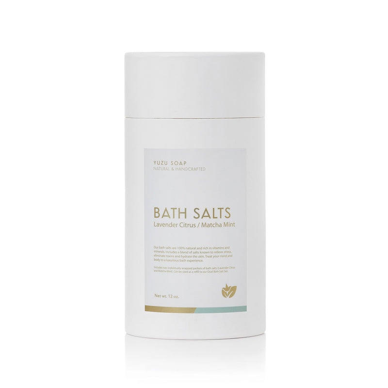 Bath Salts Tubes Matcha Mint