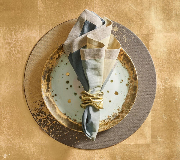 METAFOIL PLACEMAT IN TAUPE & GOLD