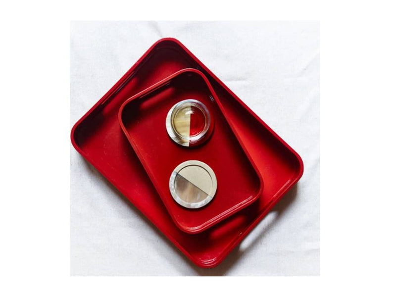Red Small Lacquer Tray