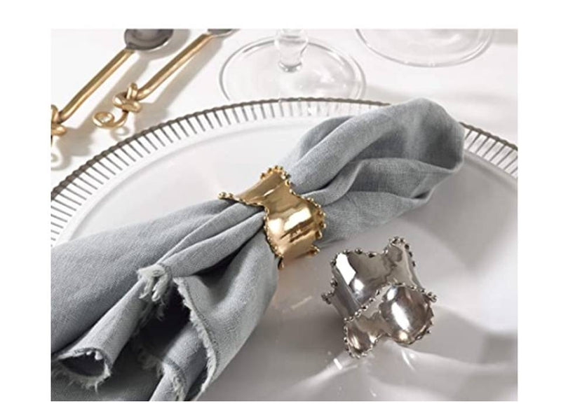 Classic Design Napkin Ring Silver (SET OF 4)