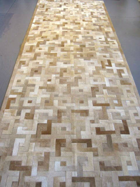 Eternity Pattern Hide Carpet Runner, 4'X12'