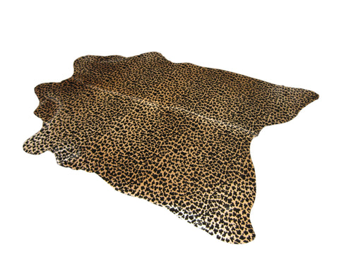 Brazilian hide in leopard print
