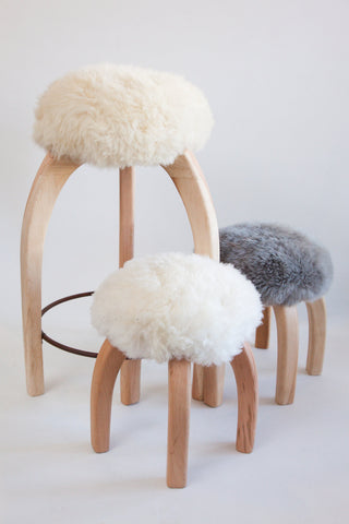 Patagonia Sheepskin Stools, sold individually, counter stools, sold in pairs! *currently out of stock*