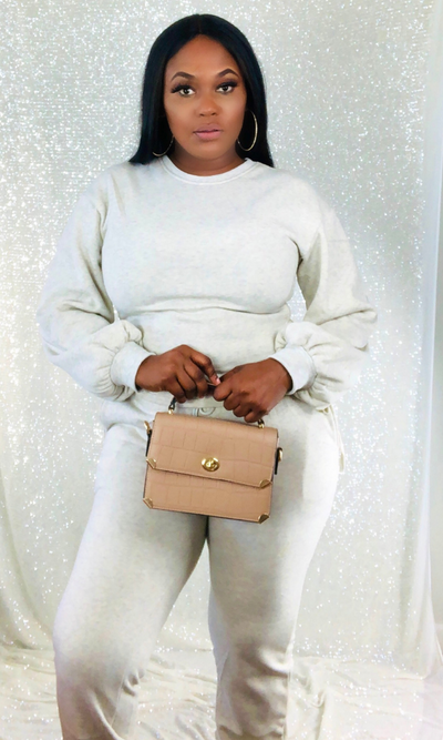 JUST FAB JOGGER SETS- (OATMEAL)