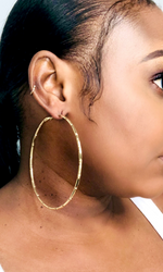 ICONIC BAMBOO HOOPS-(GOLD)