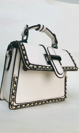 MINI FLAP TOP HANDLE BAG (WHITE)