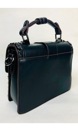 MINI FLAP TOP HANDLE BAG (BLACK)