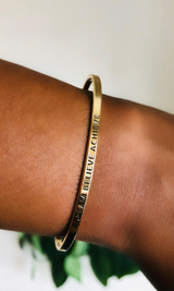 DREAM BELIEVE ACHIEVE AFFIRMATION BRACELET