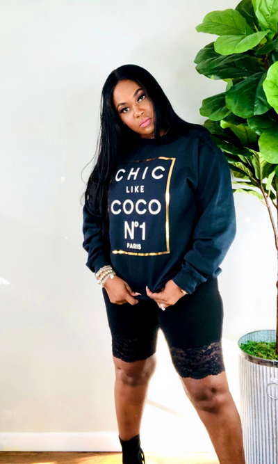 BLACK COCO CHANEL SWEATER