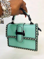 MINI FLAP TOP HANDLE BAG (GREEN)