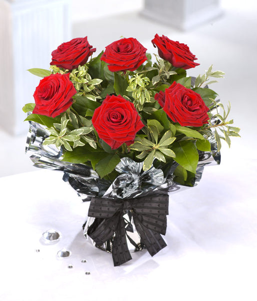 6 Red Roses - TCS Sentiments Express
