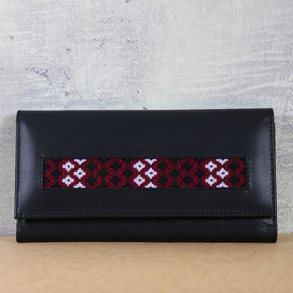Ladies Wallet Red & Black - TCS Sentiments Express