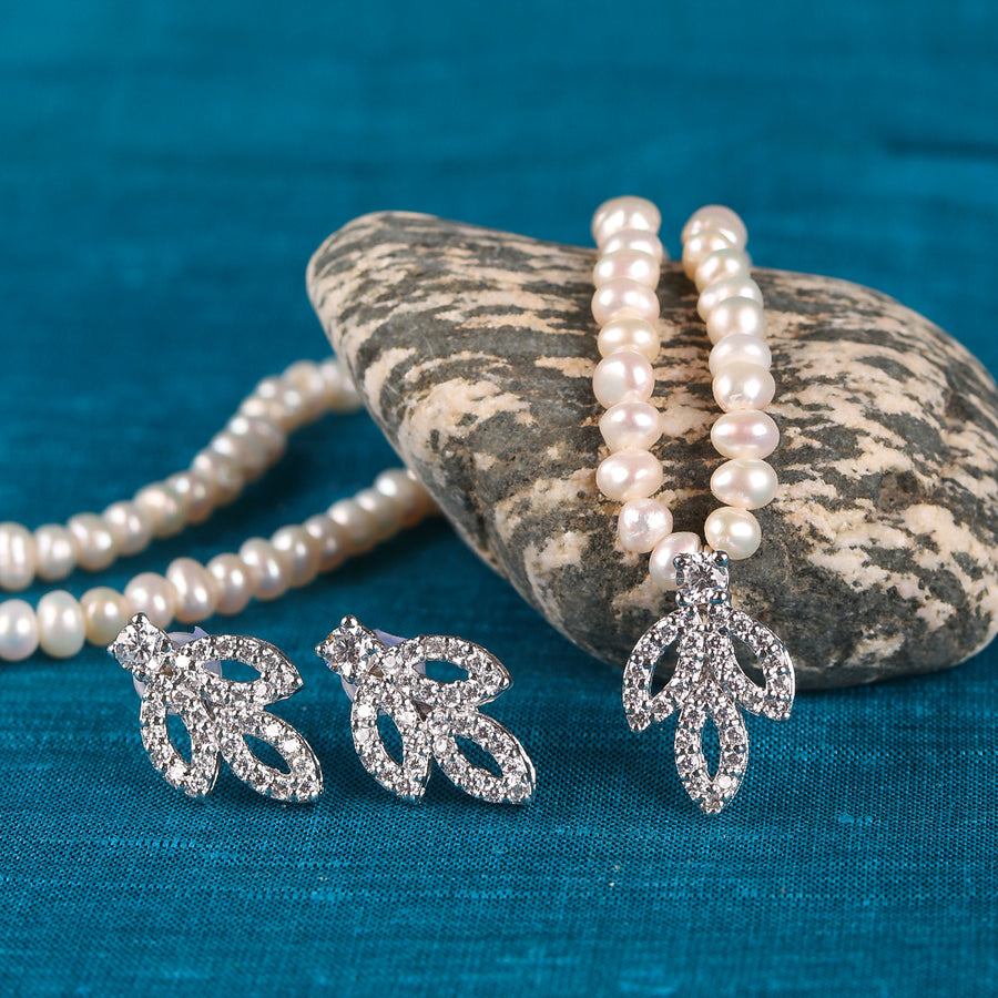 Silver Pearl Set - TCS Sentiments Express