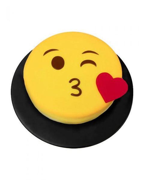 Kissing Emoji Cake 3LBS - TCS Sentiments Express