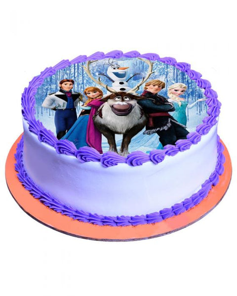 Frozen Theme Cake 3lbs - TCS Sentiments Express