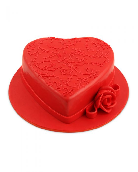Heart Shaped Fondant Cake 3LBS - TCS Sentiments Express