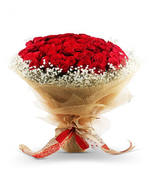 Full of Love Bouquet (100 Imported Roses)