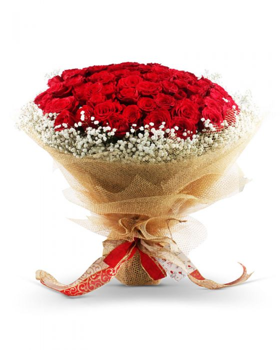 Full of Love (100 Imported Roses) - TCS Sentiments Express