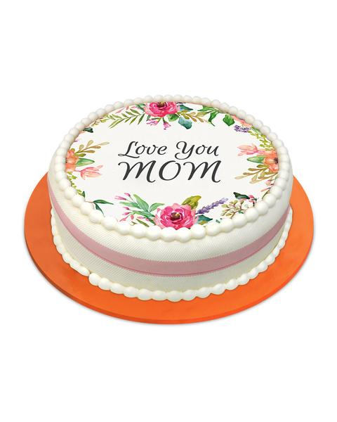 Love You Mom Cake - TCS Sentiments Express