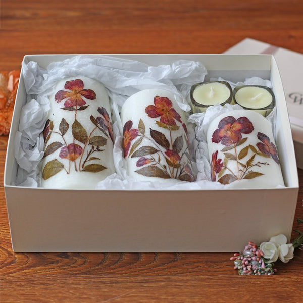 Pack of pressed flower Candles