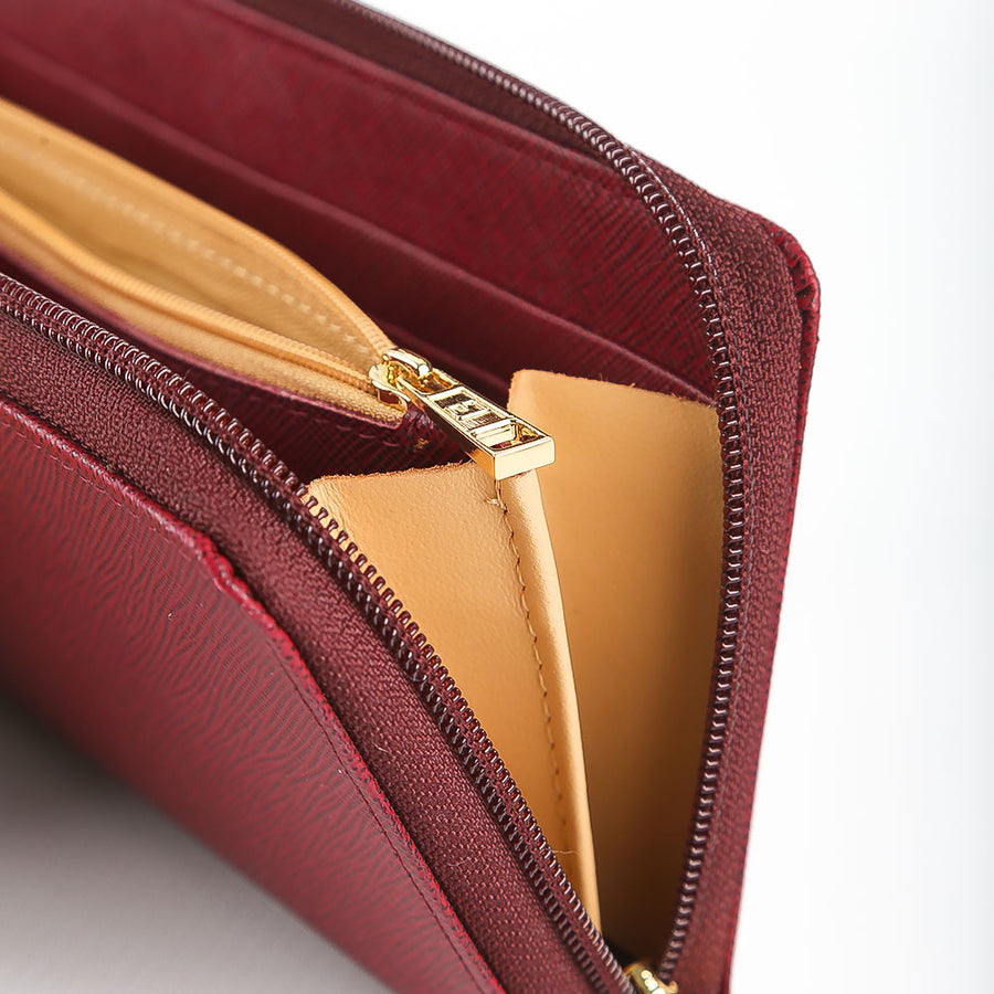 M Jafferjees maroon Wallet for Her - TCS Sentiments Express