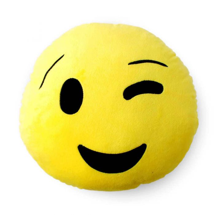 Winking Face Emoji Cushion - TCS Sentiments Express