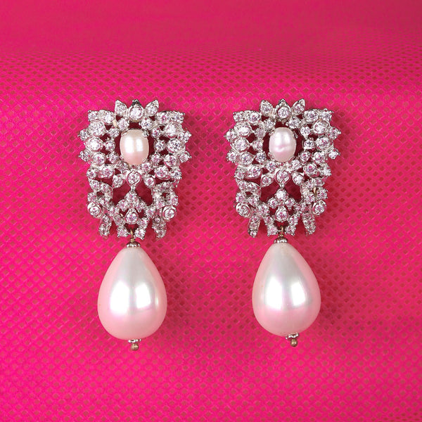 Zircon with pearl drops by Uzma Javeri