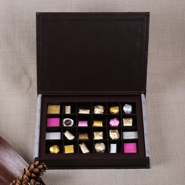 BROWN LEATHERIDE BOX BY LALS - TCS Sentiments Express