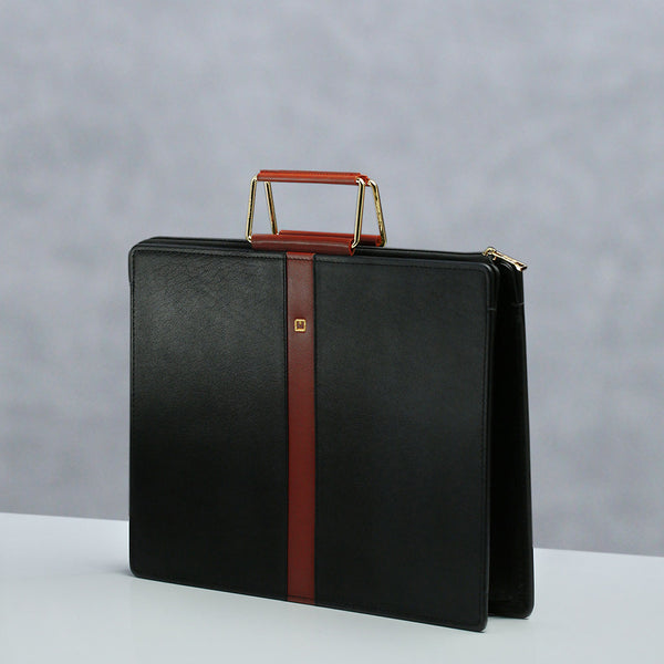 Handle Portfolio M Jafferjees Black and Tan - TCS Sentiments Express