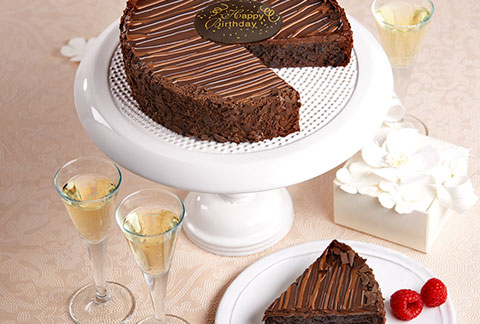Triple Chocolate Enrobed Brownie Cake - TCS Sentiments Express