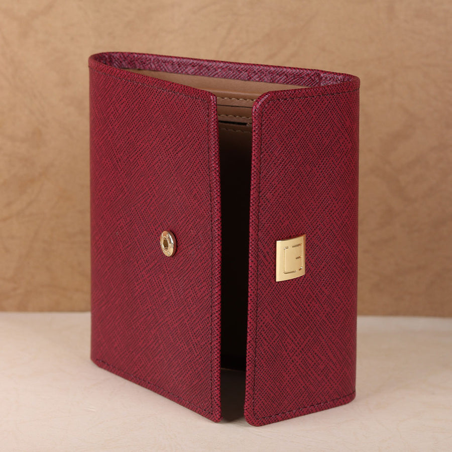M JAFFERJEES Maroon Ladies Fold Wallet - TCS Sentiments Express