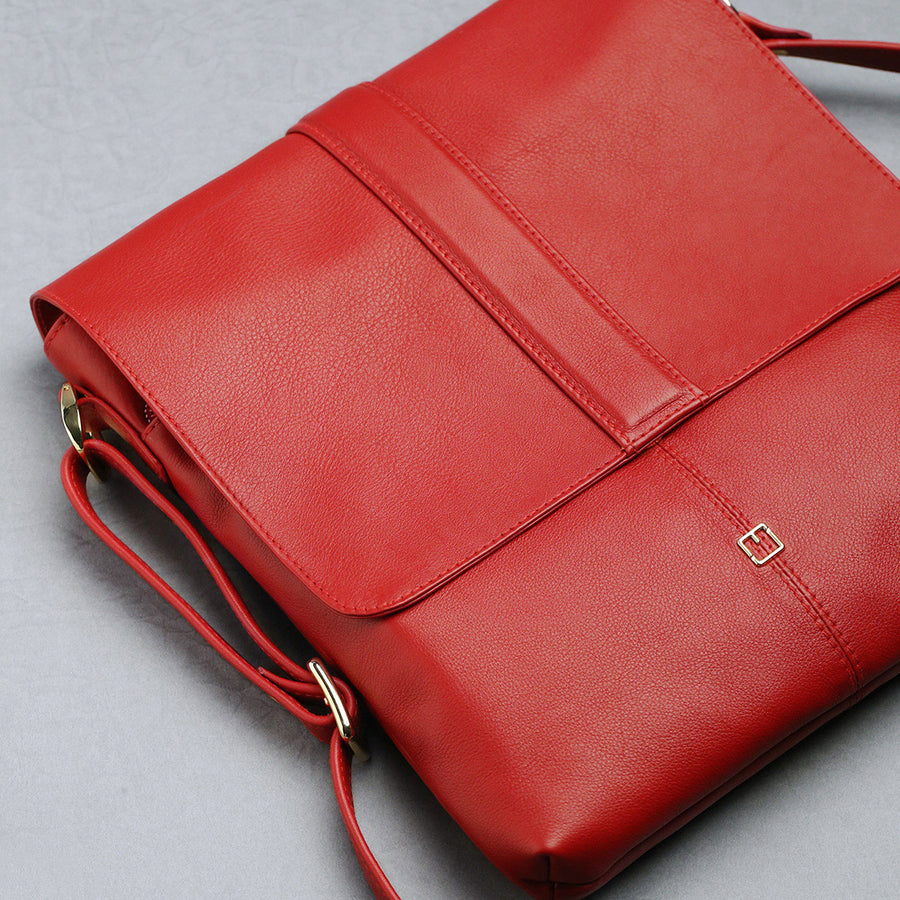 Shoulder Bag M Jafferjees Red and Gold - TCS Sentiments Express