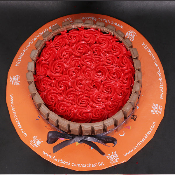 Rose Kit-Kat Cake 3LBS By Sacha's - TCS Sentiments Express