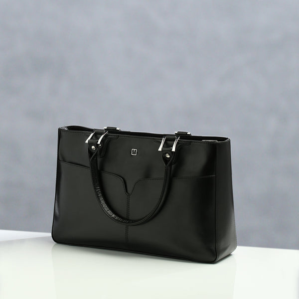 Ladies Handbag M Jafferjees Black and Silver - TCS Sentiments Express