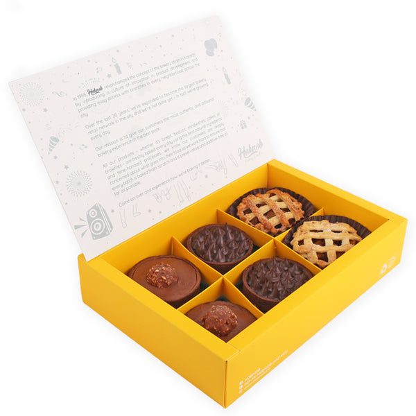 Assorted Pastries Gift - 6 Pcs. Box By Hobnob - TCS Sentiments Express