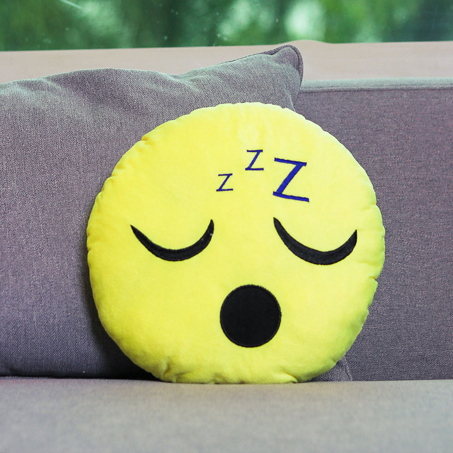 Sleeping Face Emoji Cushion - TCS Sentiments Express