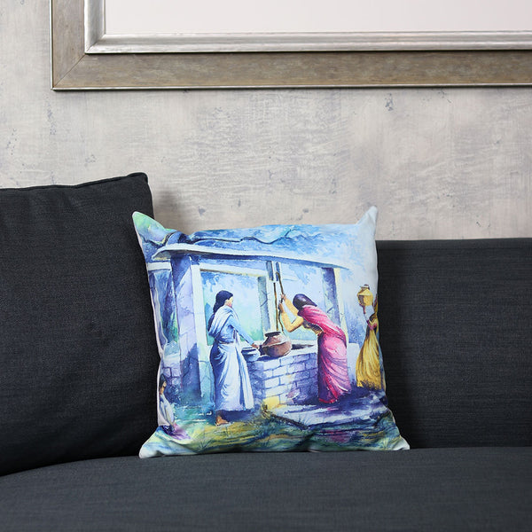 The Village Digitally Printed Cushion - TCS Sentiments Express