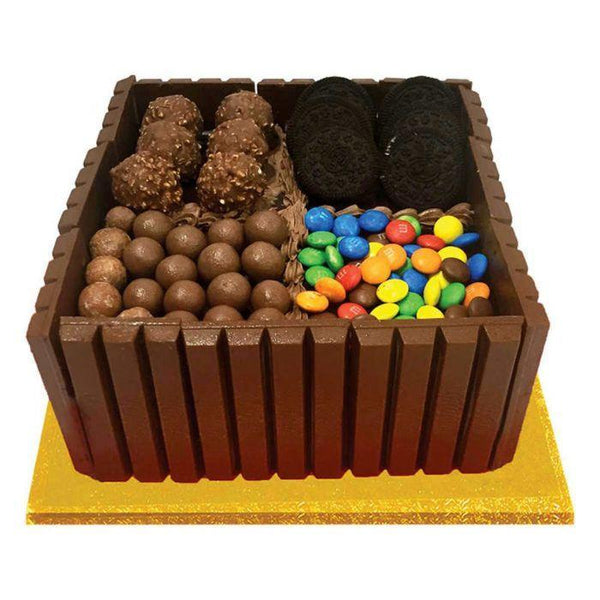 Assorted Chocolates Cake 4LBS By Sacha's - TCS Sentiments Express