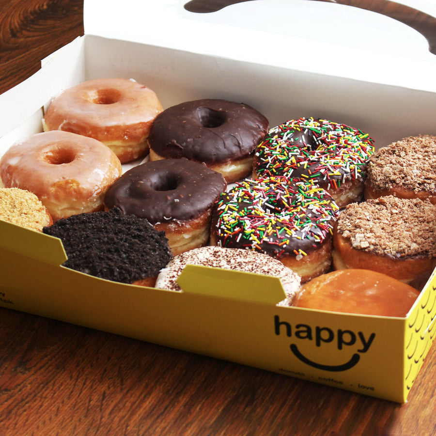 Assorted donuts - 12PC By Happy Donuts