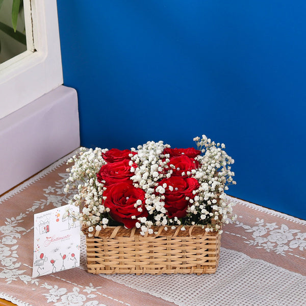 Imported Rose Basket - TCS Sentiments Express