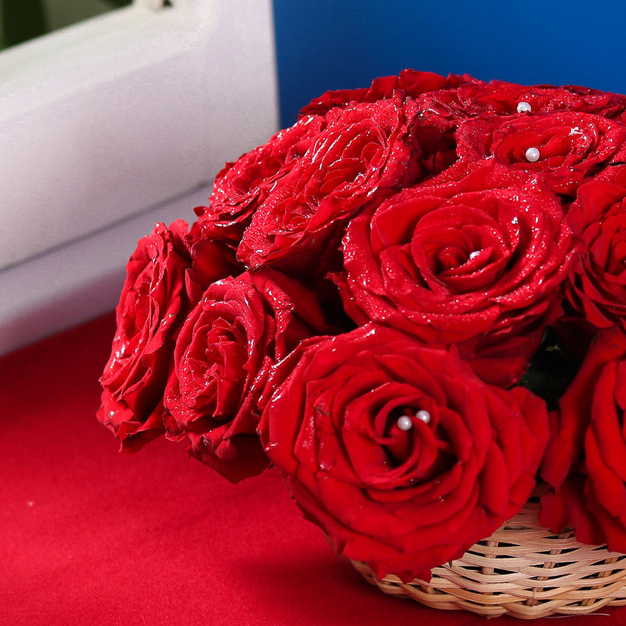 Ravishing Red Basket - TCS Sentiments Express