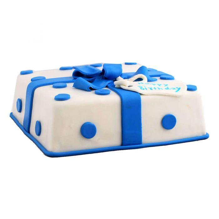 Blue Bow Cake 4LBS - TCS Sentiments Express